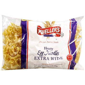 Mueller's Egg Noodles, Hearty, Extra Wide, 16-Ounce Bags (Pack of 12)