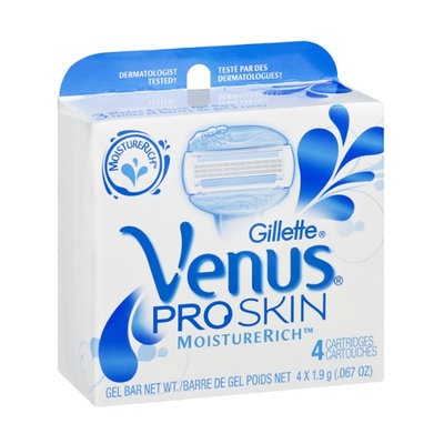 Gillette Venus MoistureRich Pro Skin Gel Bar Cartridges