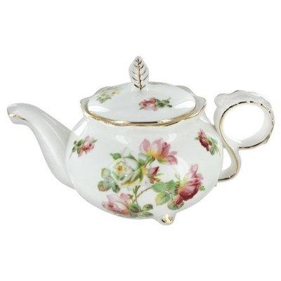 Burton And Burton Royal Rose Porcelain Teapot - 25oz
