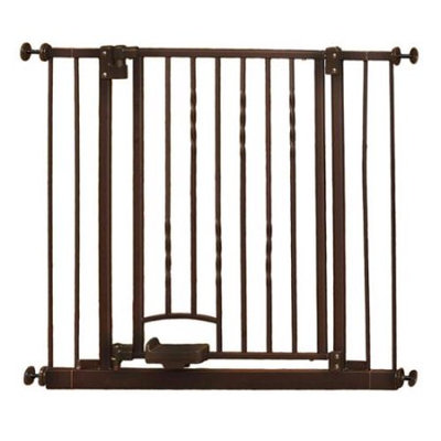 North States Industries North States Step-n-Go Safety Gate with 2 Extensions - Brown