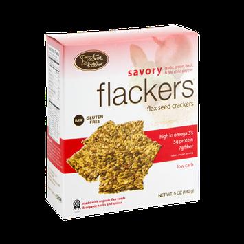 Flackers Crackers Flax Seed Savory