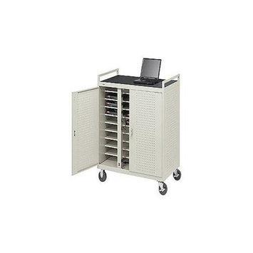 Bretford Laptop Storage Cart LAP30ERBFR-GM - Notebook storage cart - gray