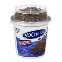 YoCrunch Yogurt Vanilla Lowfat with Nestlé Crunch Pieces