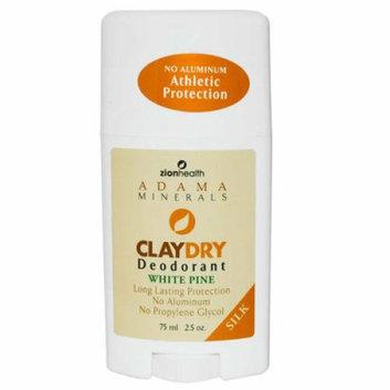 Zion Health Claydry Silk Deodorant White Pine 2.5 oz