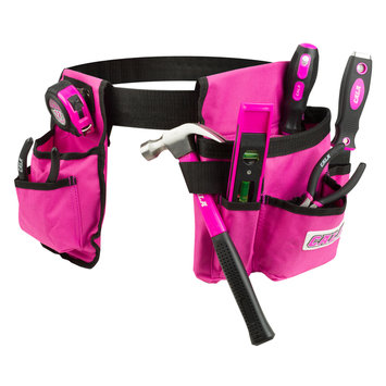 David Shaw Silverware Na Ltd Cala Pink 7 Piece Tool Set With Tool Belt - David Shaw Silverware NA LTD