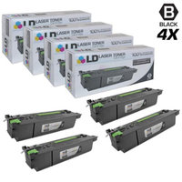 LD Compatible Replacements for Sharp AR-455NT (AR-455MT) Set of 4 Black Laser Toner Cartridges