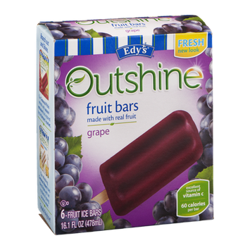 Edy's Outshine Fruit Bars Grape - 6 CT