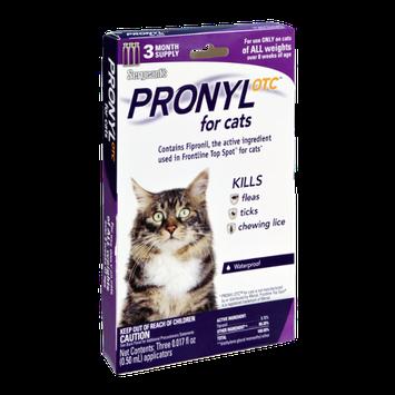 Sergeant's Pronyl Otc for Cats Kills Fleas, Ticks, and Chewing Lice- 3 CT