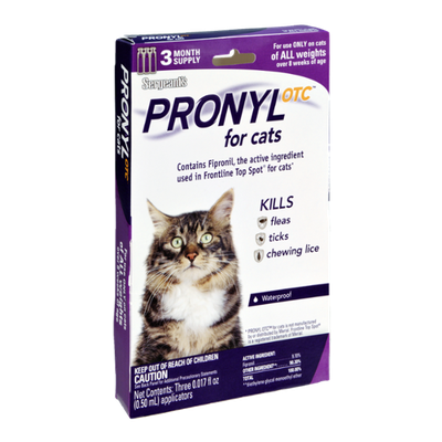 Sergeant's Pronyl Otc for Cats Kills Fleas, Ticks, and Chewing Lice- 3 CT