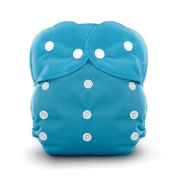 Thirsties Duo All in One Snap, Ocean Blue, Size One (6-18 lbs) (Discontinued by Manufacturer)