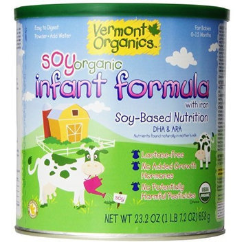 Vermont Organics Soy-Based Organic Infant Formula with Iron, 23.2 oz. cans (pack of 4)