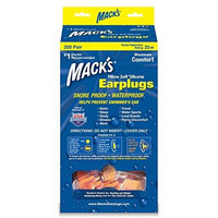 Macks Mack's® Pillow Soft® Earplugs - Individual Pair Dispenser - Hot Orange - 200 Pair