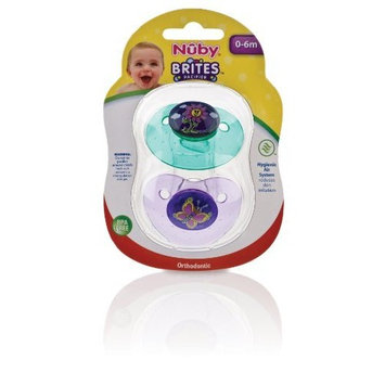 Nuby Brites Ortho Shield Pacifier, 0-6 Months (Discontinued by Manufacturer)