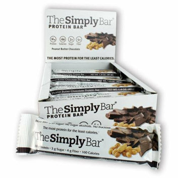 The Simply Bar Protein Bar Peanut Butter and Chocolate Case of 15 1.4 oz