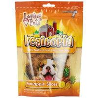 Loving Pets Vegitopia Pineapple Slices Dog Treats, 3.5-Ounces