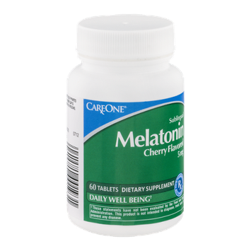 CareOne Sublingual Melatonin Tablets Cherry Flavored 5 mg - 60 CT
