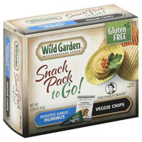 Wild Garden Mediterranean Foods Snack Pack to Go! Veggie Chips & Hummus Roasted Garlic 2.36 oz