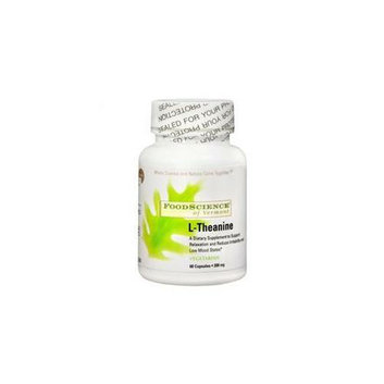 FoodScience of Vermont Anxiety  Stress & Sleep Support L-Theanine 200 mg 60 vegetarian capsules 218926
