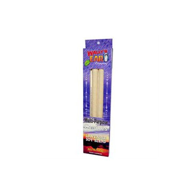 Wallys Natural Products 83682 Wallys Paraffin Lavender Ear Candle - 1x4 Pk