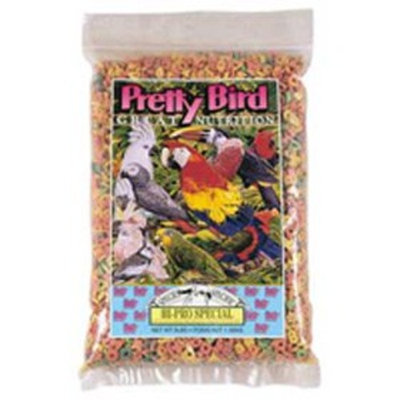 Pretty Bird International BPB73311 Species Specific Hi-Pro Special Cockatoo and Amazon Food for Birds, 3-Pound