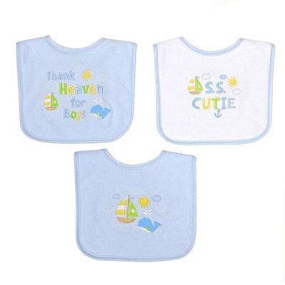 Baby Treasures 3-Pk. Choo Choo Bibs