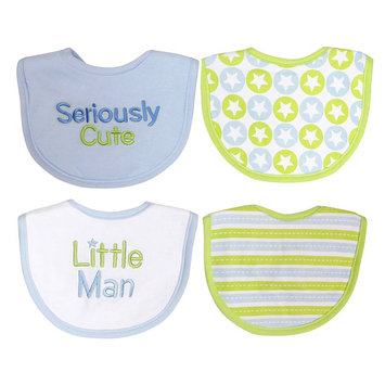 Baby Treasures 4-Pk. Striped And Embroidered Bibs