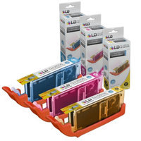 LD Compatible Canon Set of 3 CLI-251XL High Yield Inkjet Cartridges: 1 Cyan 6449B001, 1 Magenta 6450B001 and 1 Yellow 6451B001 for Canon PIXMA IP7220, MG5420, MX722, MG6320 & MX922 Printers