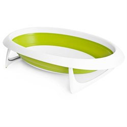 Boon Inc. Boon, Inc. Naked Collapsible Baby Bathtub, Green and White
