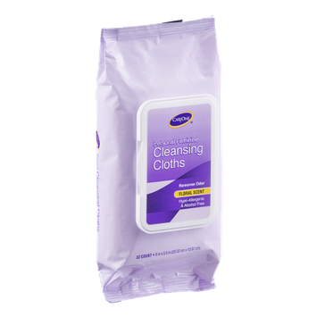 CareOne Cleansing Cloths Personal Feminine Floral Scent - 32 CT