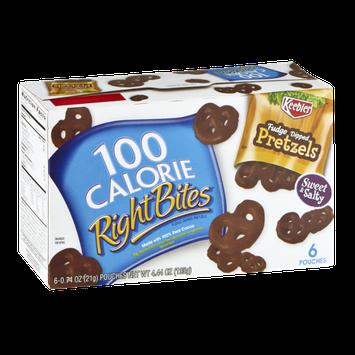 100 Calorie Right Bites Fudge Dipped Pretzels - 6 CT