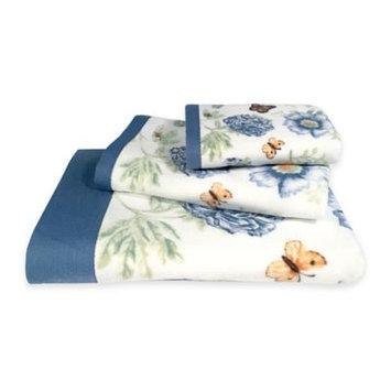 Lenox Blue Floral Garden Hand Towel - 16x28 16x28, Blue