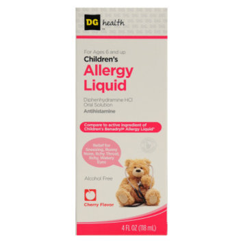 DG Health Children's Allergy Liquid - Cherry - 4 oz