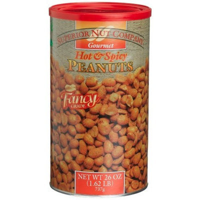 Superior Nut Company Superior Nut Fancy Hot & Spicy Peanuts, 26-Ounce Canisters (Pack of 6)