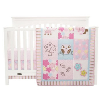 Graco Girl Woodland 3 Piece Crib Bedding Set