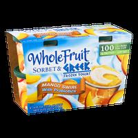 Whole Fruit Sorbet & Greek Frozen Yogurt Cups Mango Swirl - 4 CT