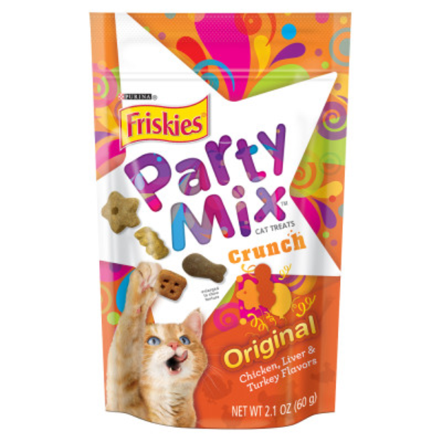 Friskies Party Mix Cat Treats Original Crunch: Chicker Liver & Turkey