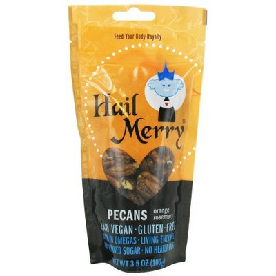 Hail Merry Snacks Pecans, Orange Rsmry, Raw, 3.5 oz (pack of 8 )