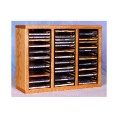 Wood Shed 18.75 in. CD Storage Rack (Honey Oak)
