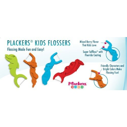 Plackers Kids 1st Flossers with Fluoride Mixed Berry Flavor