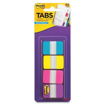 3M MMM686AYPV1IN Post-It 1-Inch Solid Color Self-Stick Tabs Pack of 88