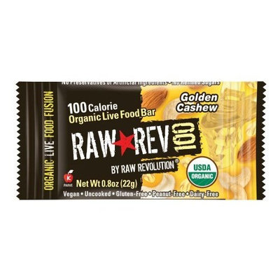 Raw Revolution Raw Rev 100, Cashew & Agave Necar 100 Calorie Organic Live Food Bar, 0.8-Ounce Bars (Pack of 26)