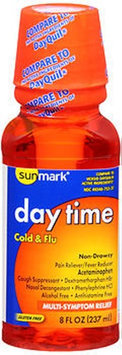 Sunmark Day Time Cold Flu Liquid Multi-Symptom Relief, 8 oz