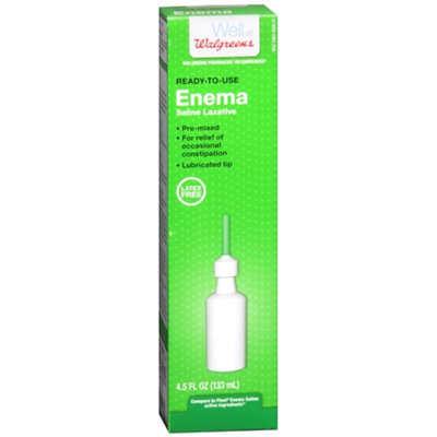 Walgreens Ready-to-Use Enema Saline Laxative, 4.5 oz