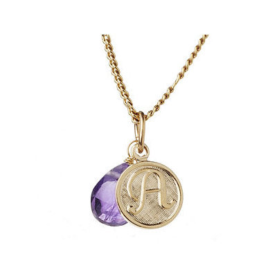 a.v. max A Monogram Charm Necklace