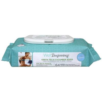 Walgreens Well Beginnings Airweave Baby WipesGreen Tea & Cucumber