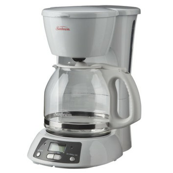 Sunbeam 12-Cup Programmable Coffeemaker - White