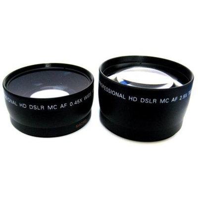Zeikos 58mm 2.5X Telephoto & Wide Angle Lens Set