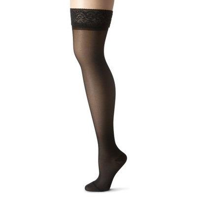 Truform 1774, Women's Compression Stockings, Thigh High, 15-20 mmHg, Black, Medium