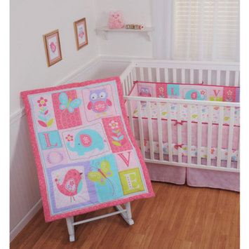 Sumersault Ellie Love 4-Piece Crib Bedding Set