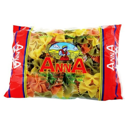 Anna Tricolor Farfalle, 1 Pound Bags (Pack of 12)